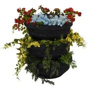 Good Ideas Plastic Vertical Garden (Set of 3); Black
