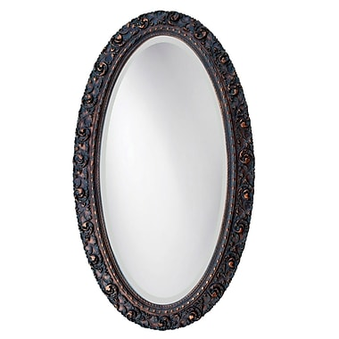 Hickory Manor House Serpentine Oval Mirror; Copper Penny