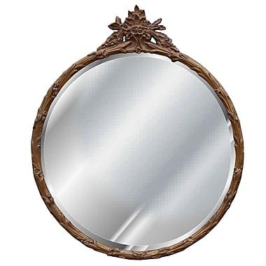 Hickory Manor House Round Flower Basket Mirror; Bronze