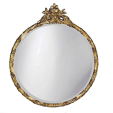 Hickory Manor House Round Flower Basket Mirror; Etineene Gold