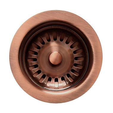 Whitehaus Collection Rainbow 3.5'' Basket Strainer for Duet Series Sinks; Antique Brass