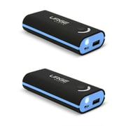 Urge Basics 4000mAh Power Bank, Black / Light Blue - 2 Pack