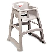 """Rubbermaid® Commercial Sturdy Chair Youth Seat, Plastic, 23 3/8""""W x 23.5""""D x 29.75""""H, Platinum (FG781408PLAT)"""
