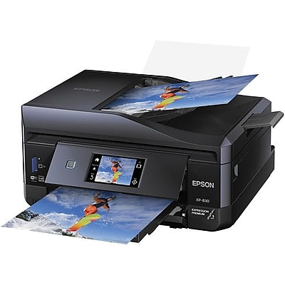 Epson® Expression Premium XP-830 Wireless Small-in-One Multifunction Color Inkjet Printer (C11CE78201)