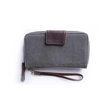 Kelly Moore Canvas Wallet, Grey