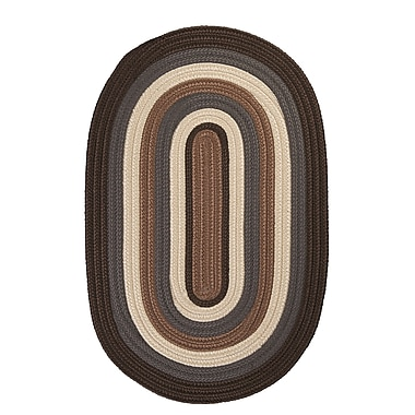 Colonial Mills Brooklyn Brownstone Braided Indoor/Outdoor Area Rug; Round 8'