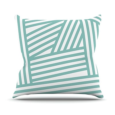 KESS InHouse Stripes Throw Pillow; 16'' H x 16'' W