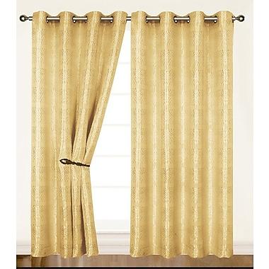 Dainty Home Helen Single Curtain Panel; Ivory