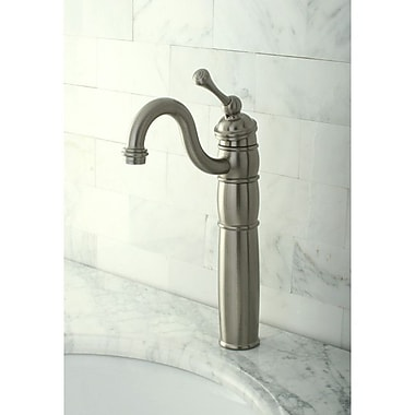 Kingston Brass Heritage Single Handle Vessel Sink Faucet; Satin Nickel