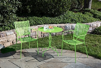 Alfresco Home Martini 3 Piece Bistro Set; Key Lime