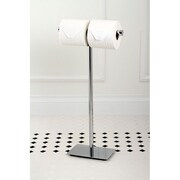 Kingston Brass Claremont Freestanding Toilet Paper Holder; Polished Chrome