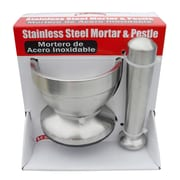 MBR Industries Sleek Stainless Steel Mortar and Pestle