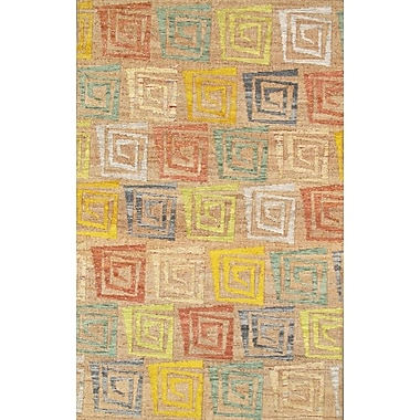 Pasargad Sumak Vegetable Dye Hemp and Sari Silk Area Rug; 5' x 8'