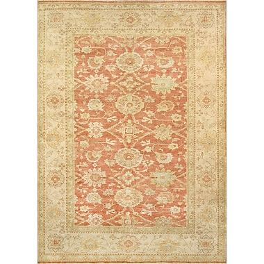 Pasargad Sultanabad Lamb's Wool Rust/Beige Area Rug; 8' x 10'