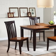 Iconic Furniture Modern Solid Wood Dining Chair (Set of 2); Whiskey / Mocha