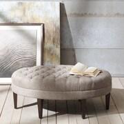 Corrigan Studio Keats Button Tufted Oval Ottoman