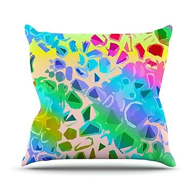 KESS InHouse Jungle Talk Throw Pillow; 16'' H x 16'' W