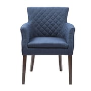 Madison Park Rochelle Arm Chair; Navy / Espresso