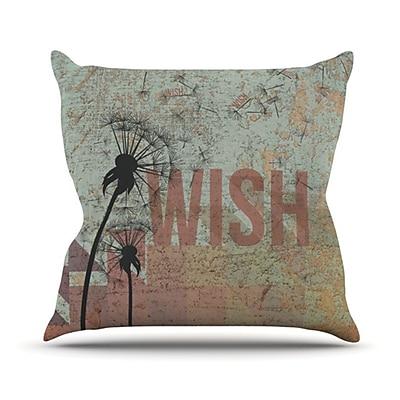 KESS InHouse Wish Throw Pillow; 16'' H x 16'' W
