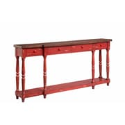 Stein World Simpson Console Table; Fired Briquette