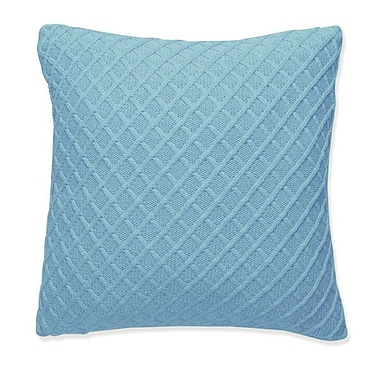 Darzzi Diamond Throw pillow; Beach Blue