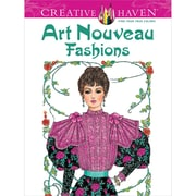 Creative Haven Art Nouveau Fashions Coloring Book, Paperback