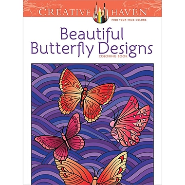 Creative Haven Beautiful Butterfly Designs Coloring Book, Paperback