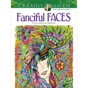Creative Haven Fanciful Faces Coloring Book, Paperback