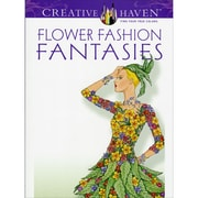 Creative Haven Flower Fashion Fantasies Coloring Book, Paperback