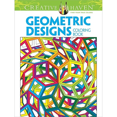 Creative Haven Geometric Designs Collection Coloring Book, Paperback