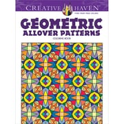 Creative Haven Geometric Allover Patterns Coloring Book, Paperback