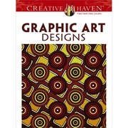 Creative Haven Graphic Art Designs Coloring Book, Paperback, Adult Coloring Book (DOV-92168)