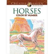 Creative Haven Horses Color by Number Coloring Book, Paperback