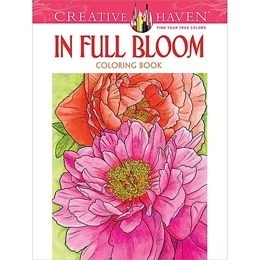 Creative Haven In Full Bloom Coloring Book Paperback