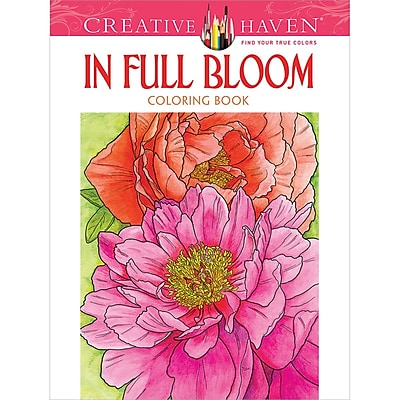 Creative Haven In Full Bloom Coloring Book, Paperback