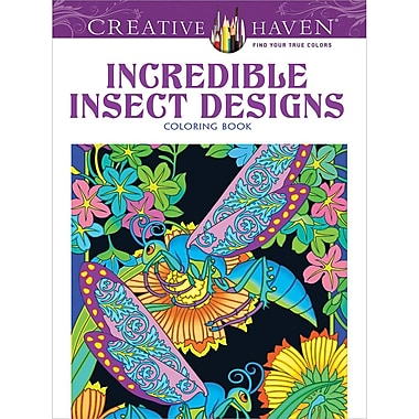 Creative Haven Incredible Insect Designs Coloring Book, Paperback