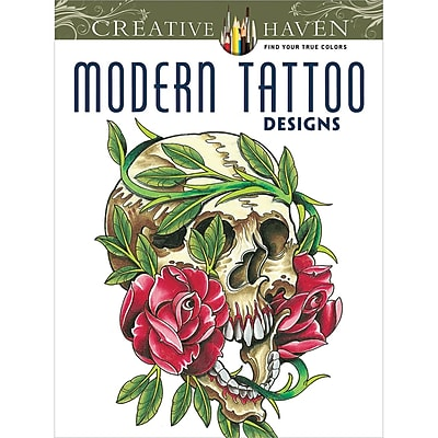 Creative Haven Modern Tattoo Designs AdultColoring Book, Paperback