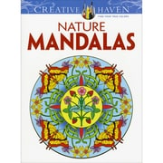 Creative Haven Nature Mandalas AdultColoring Book, Paperback