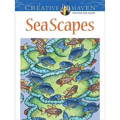 Creative Haven SeaScapesAdult Coloring Book, Paperback