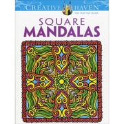 Creative Haven Square Mandalas AdultColoring Book, Paperback