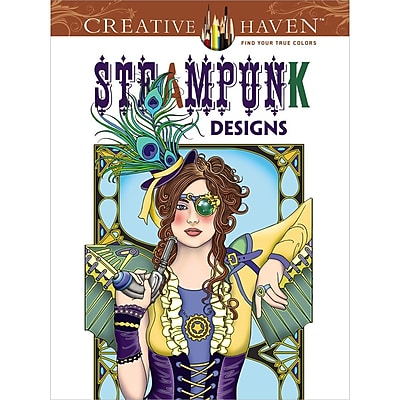 Creative Haven Steampunk Designs AdultColoring Book, Paperback