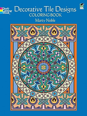 Decorative Tile Designs Coloring Book, Paperback