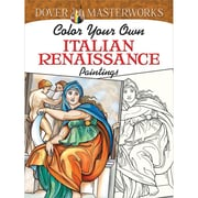 Color Your Own Italian Renaissance Paintings Adult coloring book, Paperback