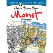 Color Your Own Monet Paintings Adult coloring book, Paperback