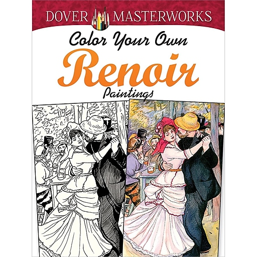 Dover Masterworks Color Your Own Renoir Paintings Adult Coloring