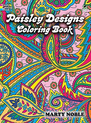 Paisley Designs Coloring Book, Paperback