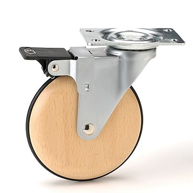 Richelieu Furniture Caster 100mm, Swivel with Brake, Silver (BP51022020503)