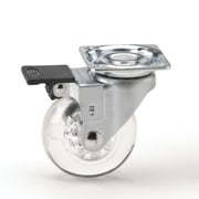 Richelieu Furniture Caster 50mm, Swivel with Brake, Silver (BP35010050201)