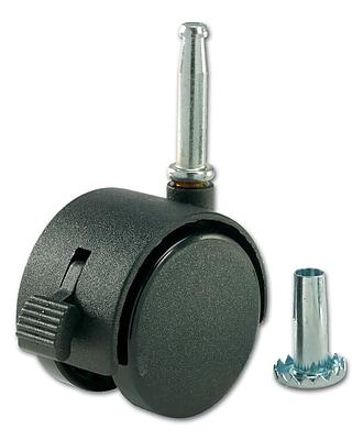 Richelieu Madico Dual Wheel Casters, 50mm, Swivel, Black (F24426)