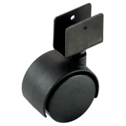 Richelieu Madico Dual Wheel Caster 40mm, Swivel, Black (F22625)